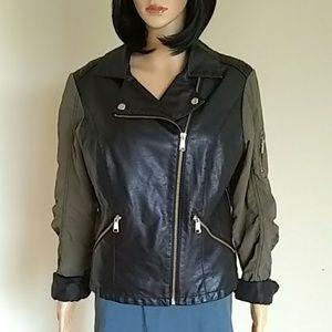 Steve Madden vegan leather moto jacket